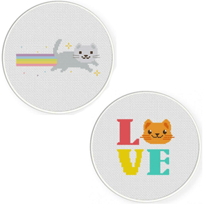 $20 - Come learn how to cross-stitchthese adorable cat images!