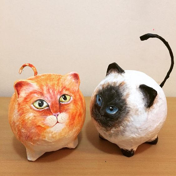 Paper Mache DIY  - 2pm-4pm$20Come create and paint an adorable cat statue! Wear clothes ok to get messy!!