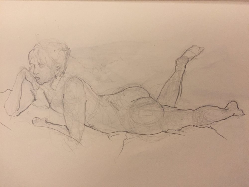 Drawing from Nude in Limbo in June!