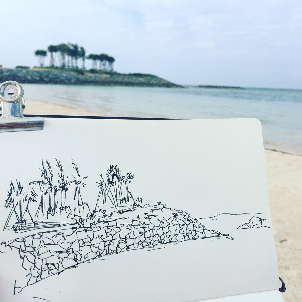 Quick beach doodle
