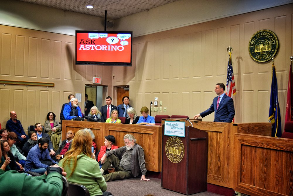 At Astorino's town hall, many questions about Indian Point's shutdown, but not many answers.