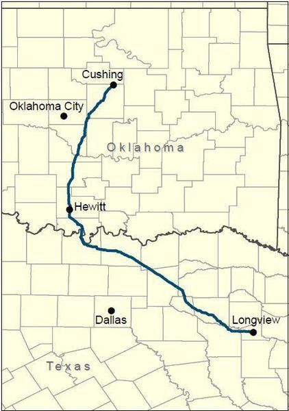 Plains All American Red River pipeline proposed route