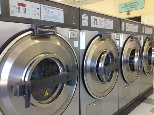 Large front loading washing machines!