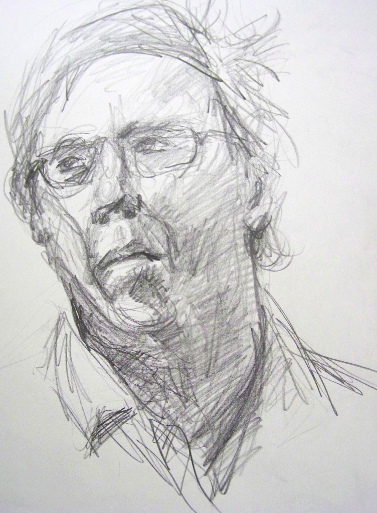 Figure Drawing II  Direct Observational Portrait Study (10 minutes)  Graphite 2013