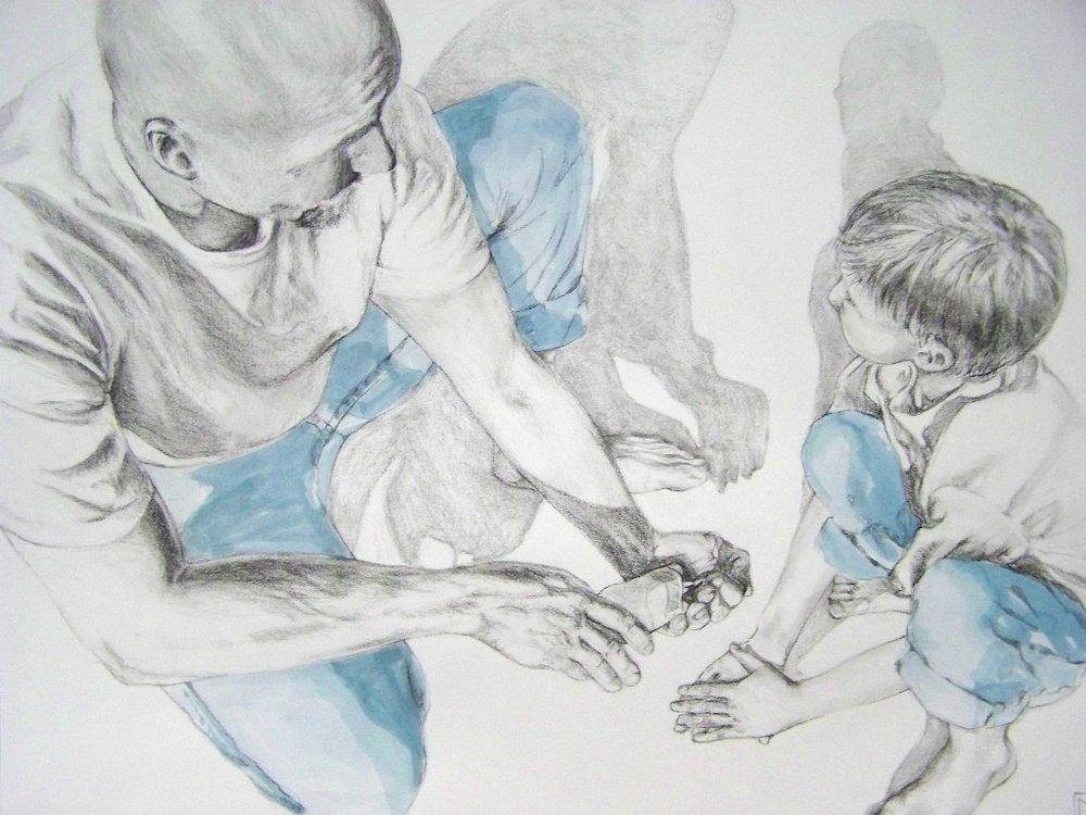 Graphite and Watercolor  2011