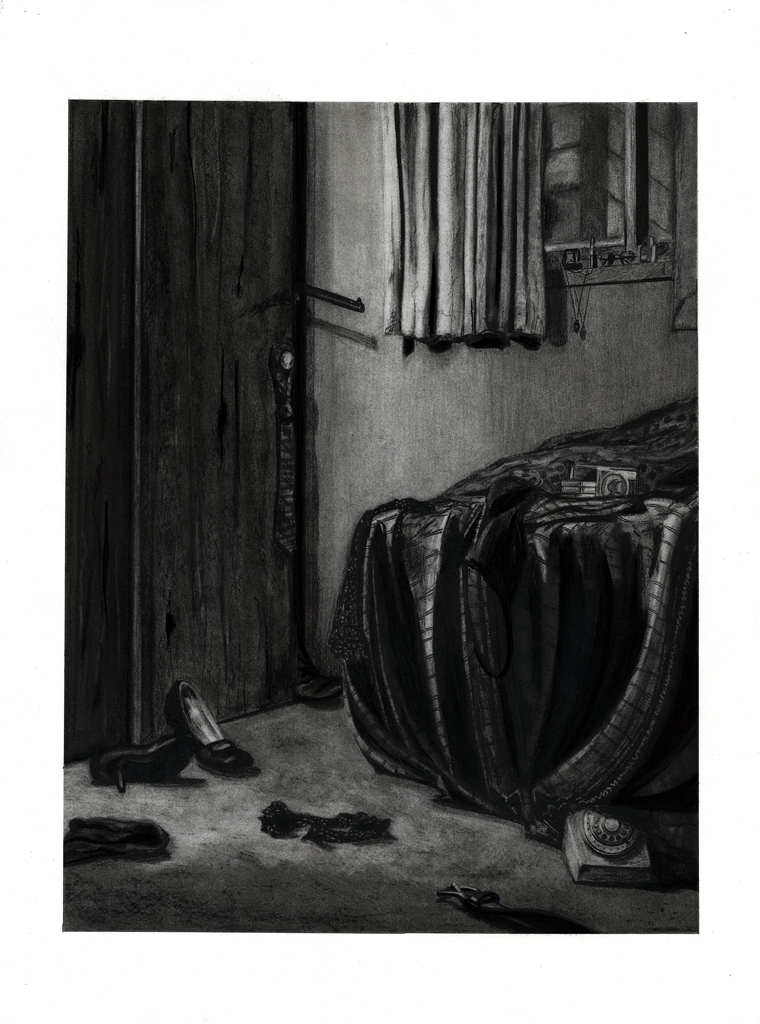 Drawing II  Film Noir Drawing  Charcoal 2014