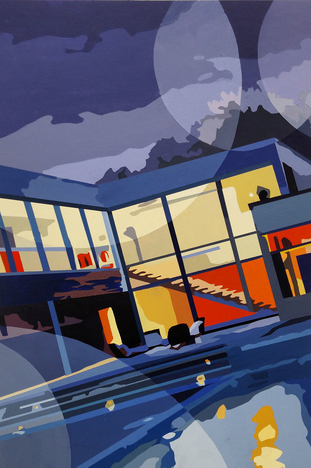 Color and Design  Architecture assignment with emphasis on transparencies  Acrylic on Illustration Board  2017