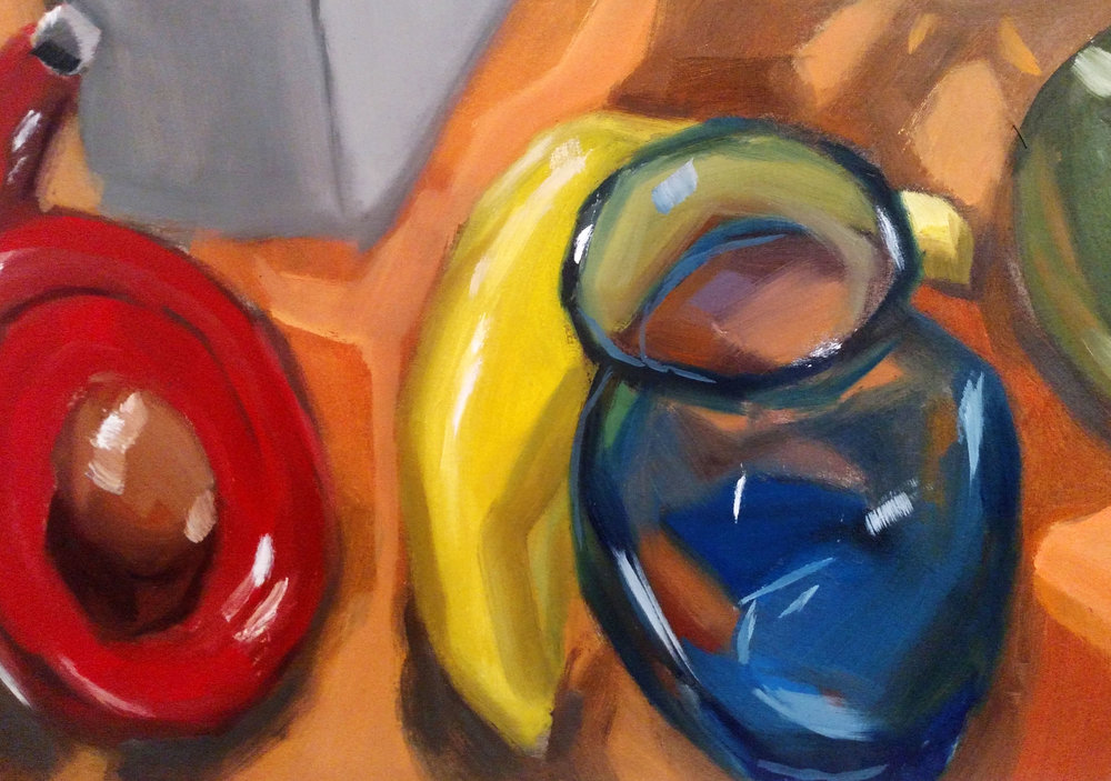 Detail Image  Full Palette Painting  2017 Oil Paint on Gessoed Paper