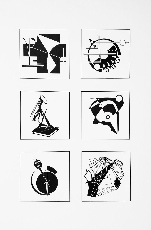 2D Design  Invented Shapes Using Gestalt Principles  Adobe Illustrator  2016