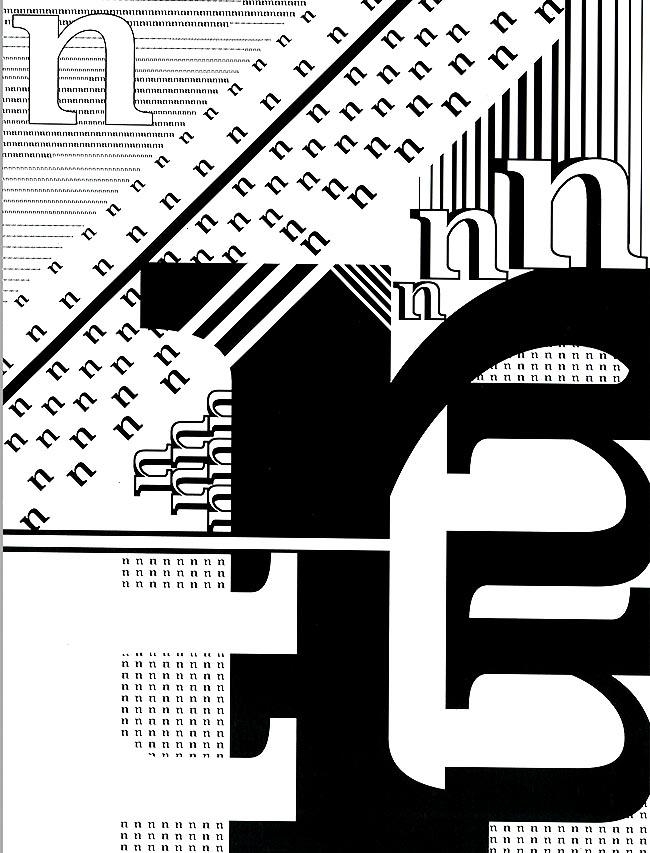 2D Design  Letterform Composition  Adobe Illustrator  2016