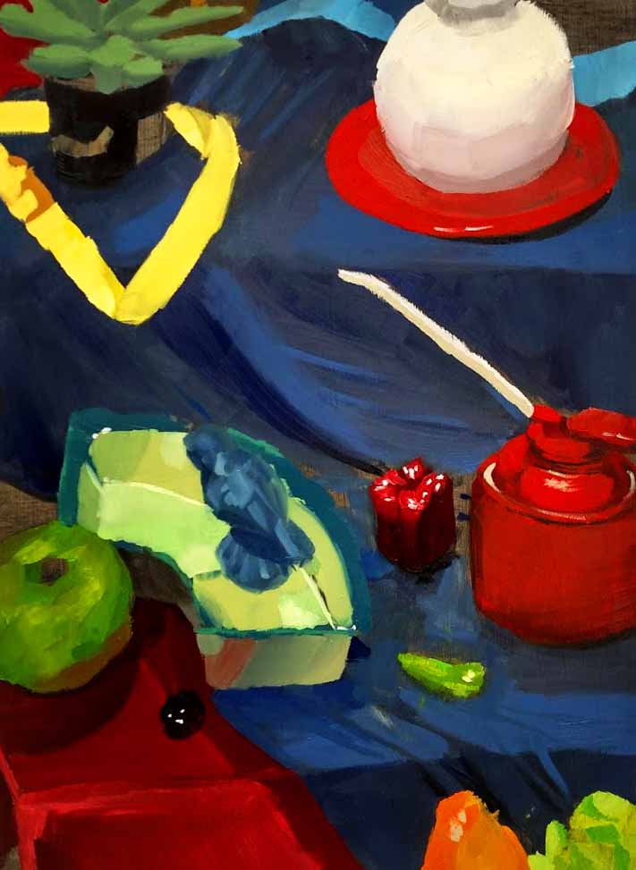 Introduction to Painitng  Direct Observational Oil Painting  Emphasis on planar brushstroke loose and open  2018