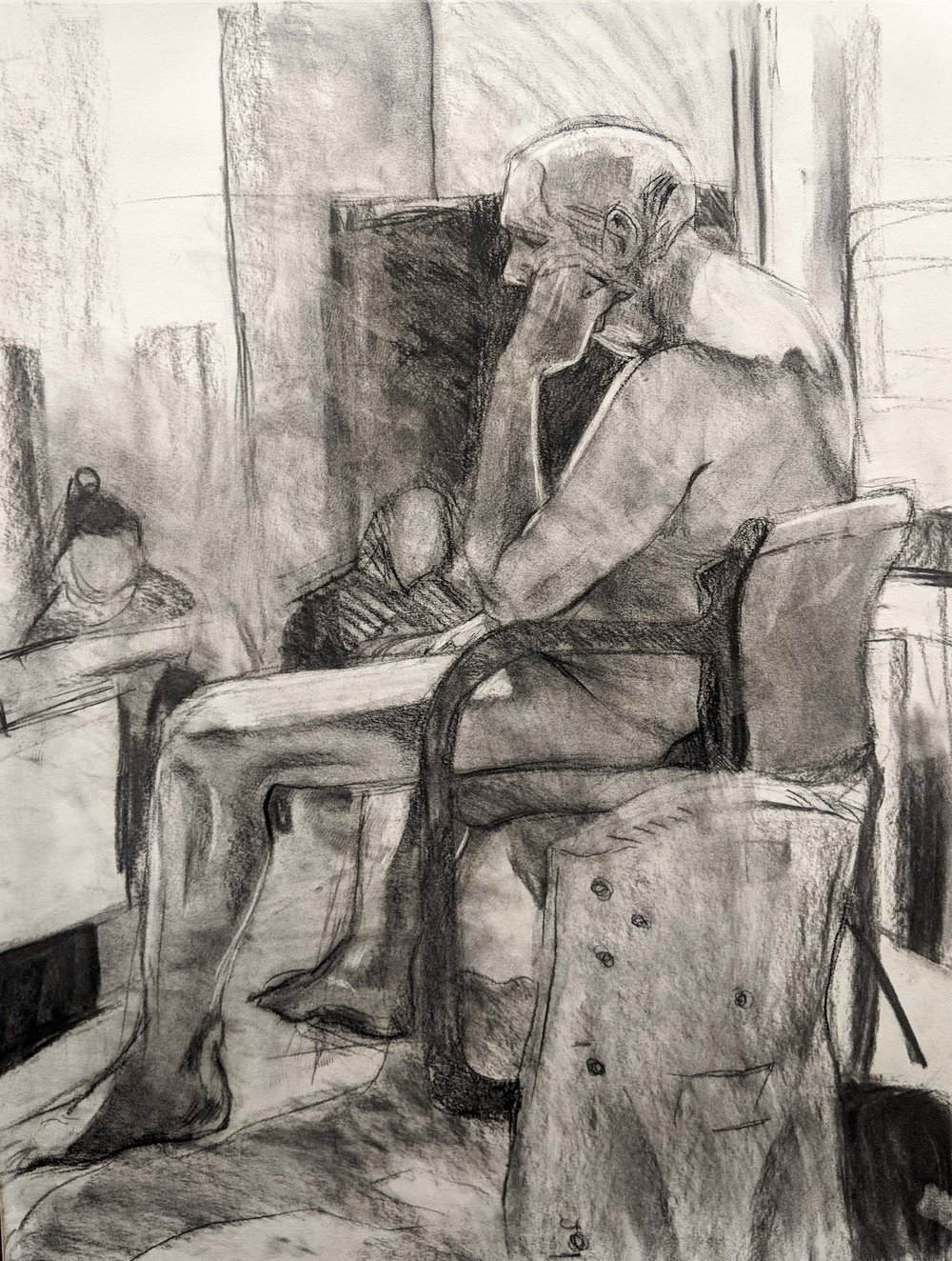 Life Drawing  Direct Observation  Charcoal   2018