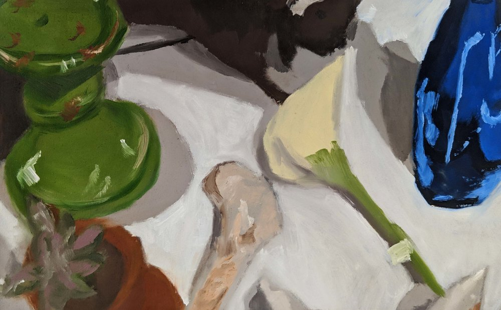 Introduction to Painting  Direct Observational Still Life  Limited Palette  2018