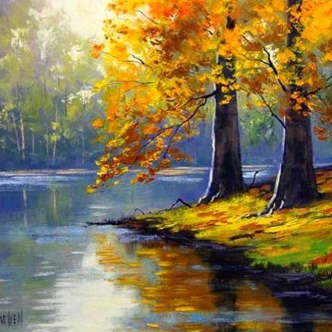 My favorite River in Oregon! 👌 beautiful. #painting #paint #art #oregon #river #nature