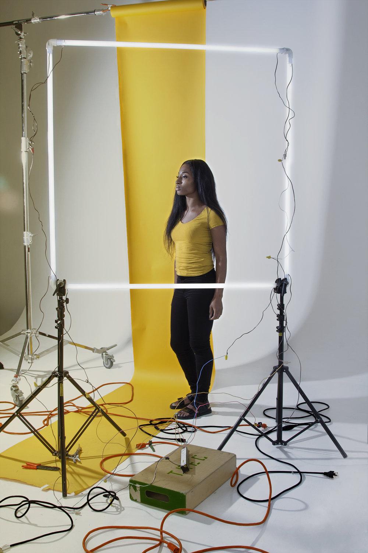 Woman Standing in Spotlight, 2016