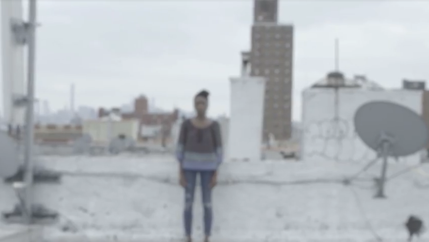 Video Still #301: The Artist and Satellite on Roof, 2015