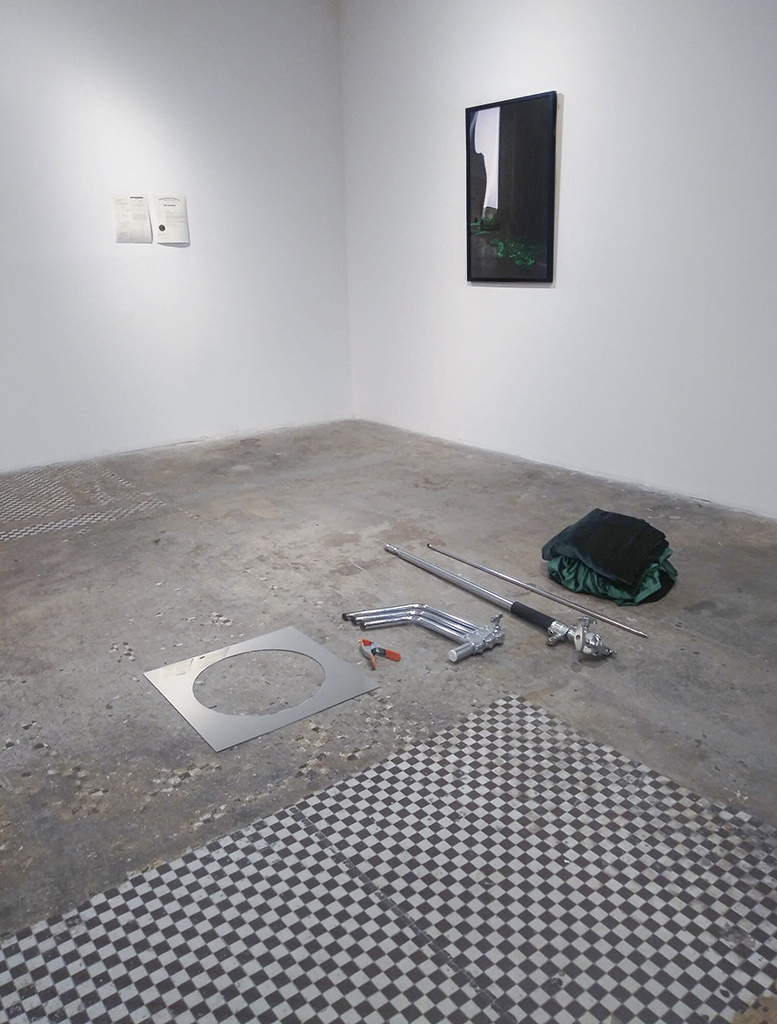 "Post Performance Installation view of Dismantled ""Colorline"""