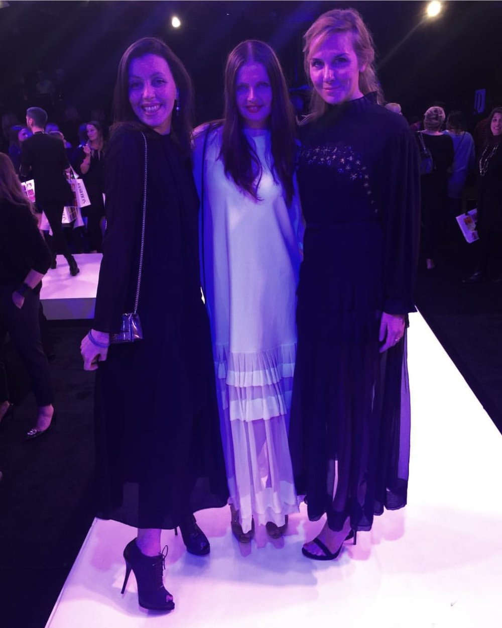 Milena, Valentina & Valentia's Creative Director, Tereza, photographer based in New-York and Lana, space engineer from Seattle, all look radiant in silk chiffon dresses by Valentina & Valentia.