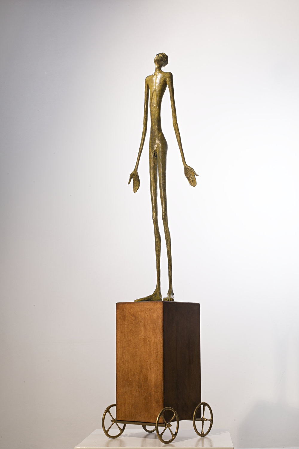 Mobile Question Bronze, wood Ed. /30 Lost wax 140 x 32 x 32 cm