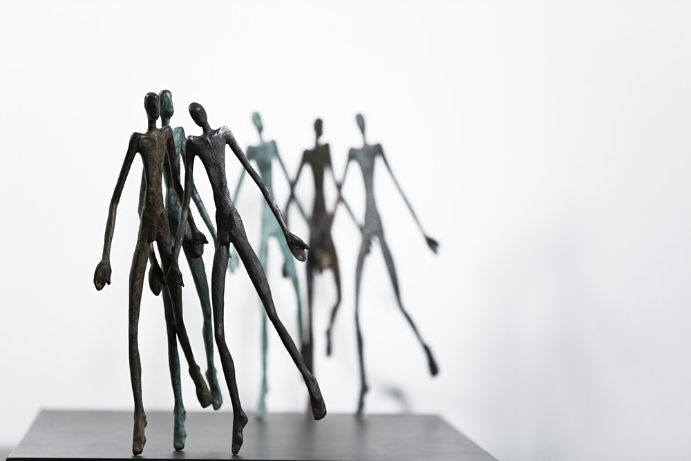 The Runners Bronze Ed. /30 Sandcast 62 x 35 x 35 cm