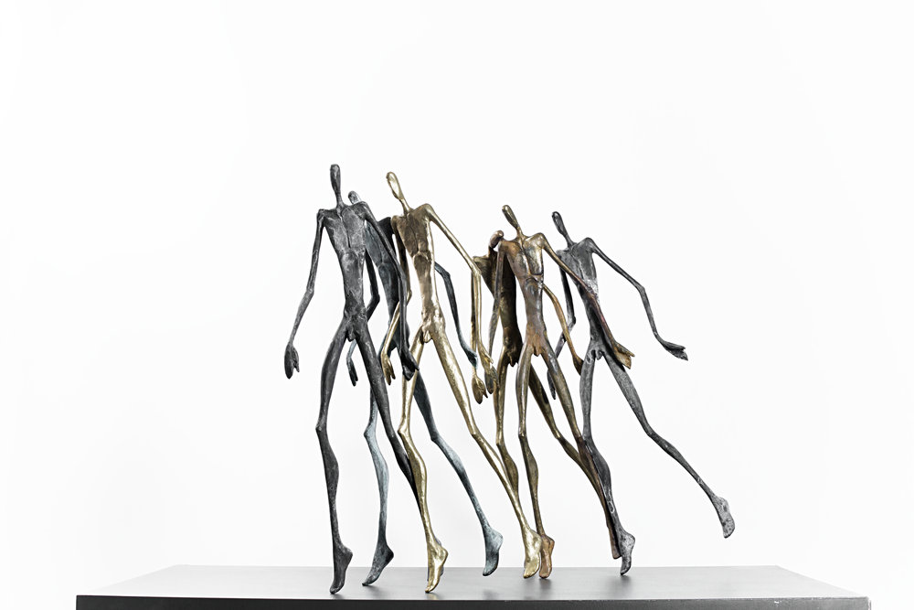 The Runners 2   Bronze Ed. /30 sand casting 50 x 30 x 15 cm