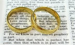 Wedding Rings symbolizing Holy Matrimony