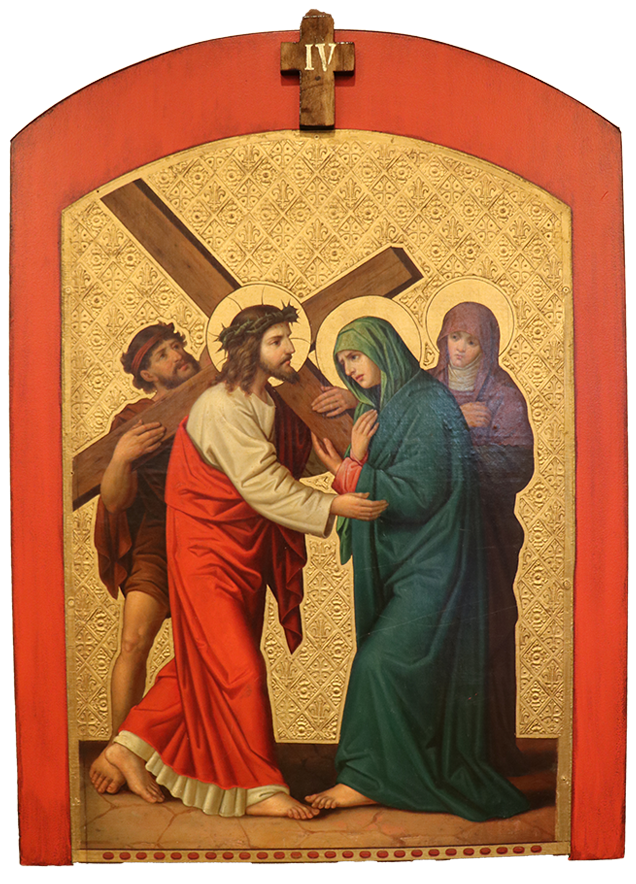 4. Jesus meets his mother, Mary