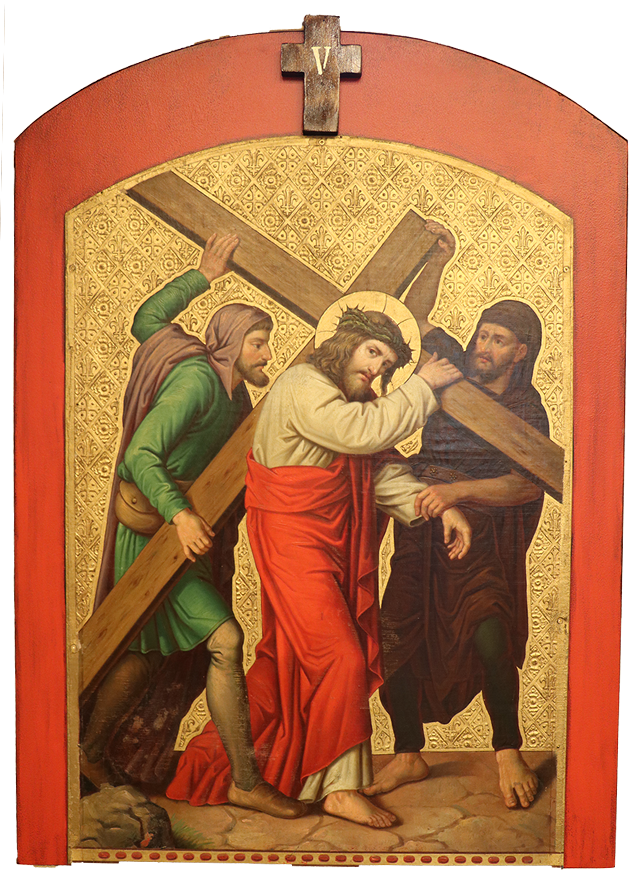 5. Simon helps Jesus carry his cross