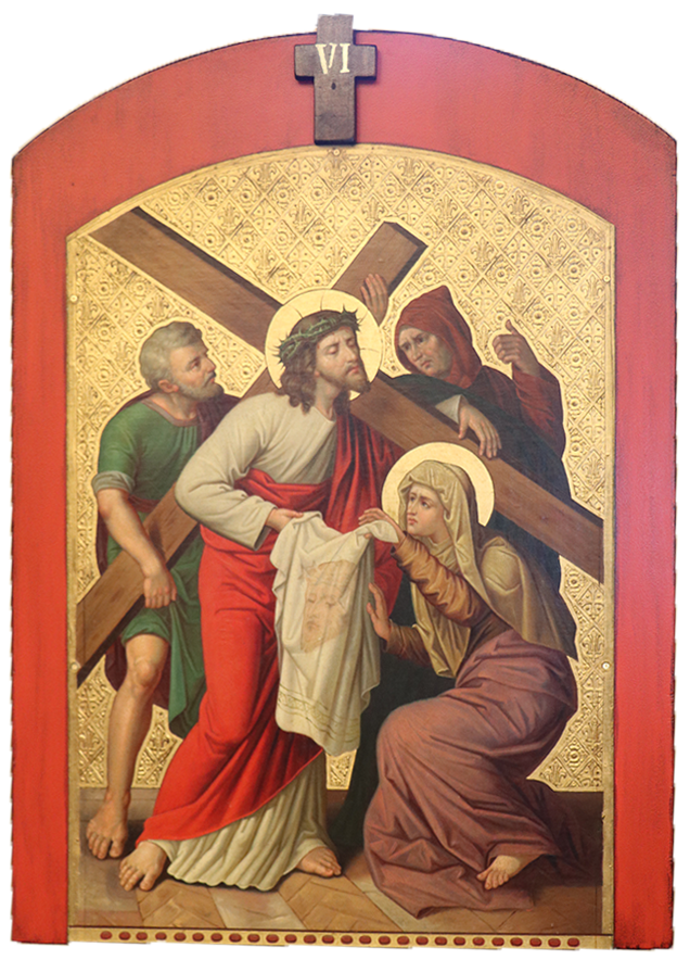 6. Veronica wipes the face of Jesus
