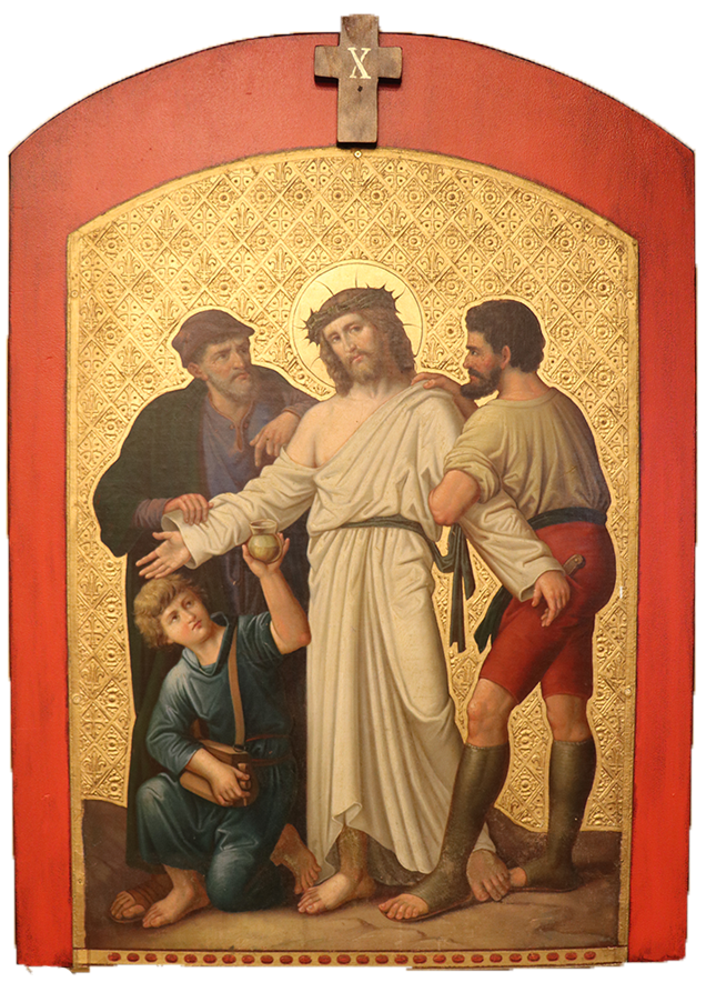 10. Jesus is stripped of his clothes