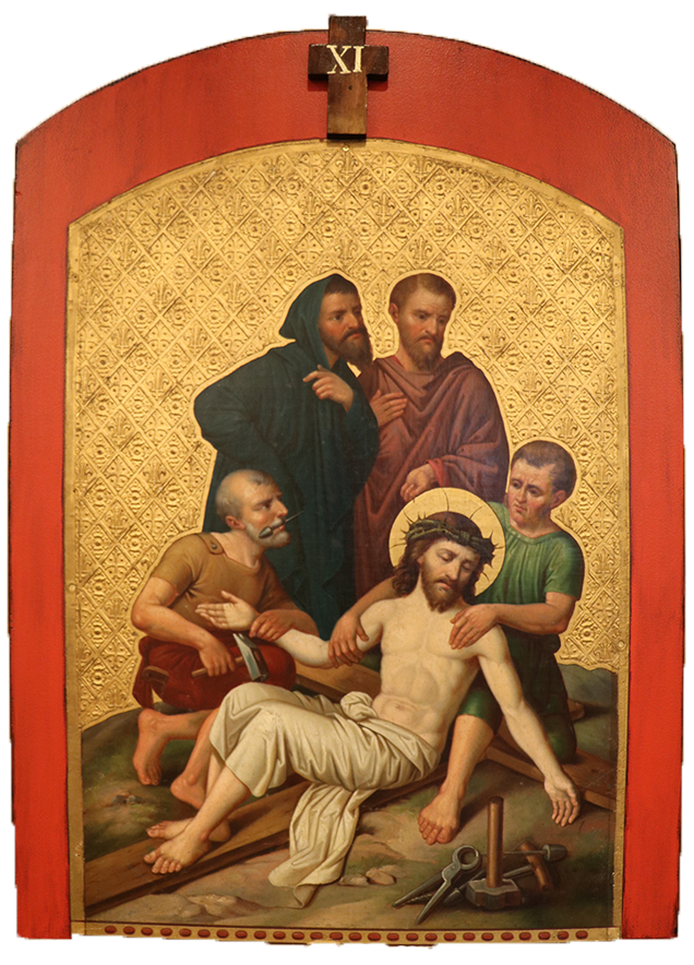 11. Jesus is nailed to the cross