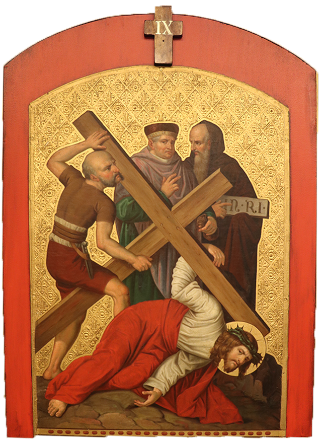 9. Jesus falls for the third time