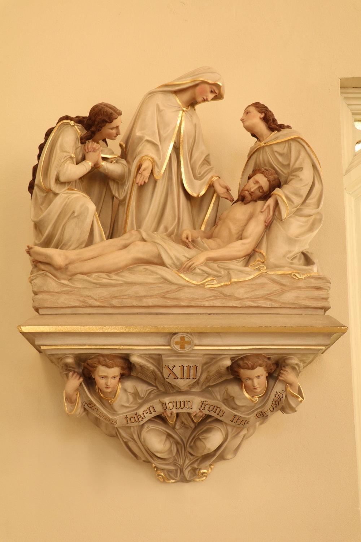 Jesus taken down from the Cross