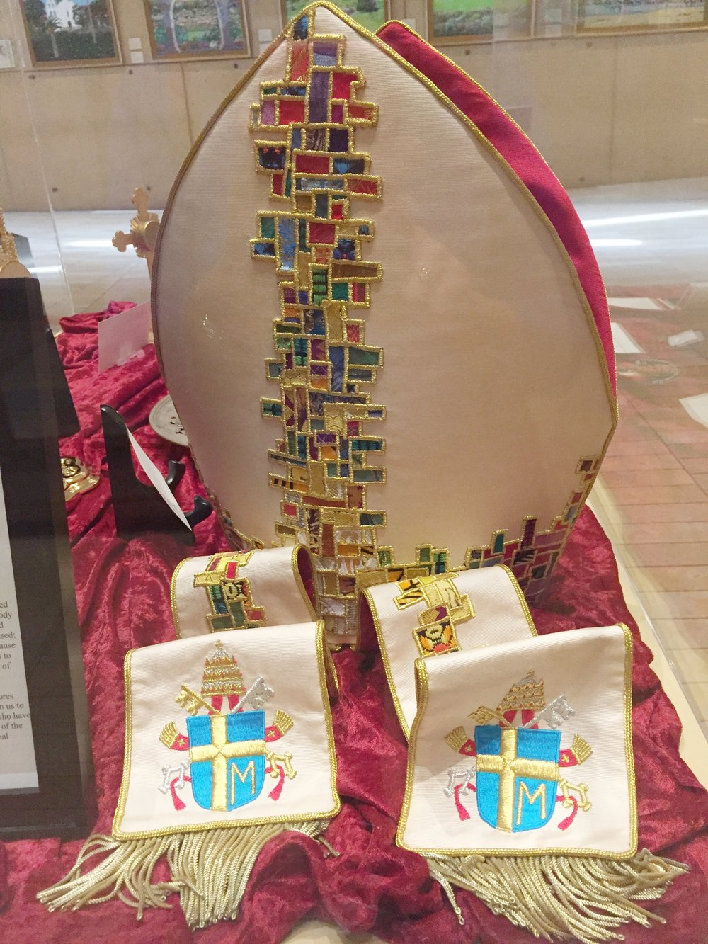 A Mitre and Stole of St. Pope John Paul II