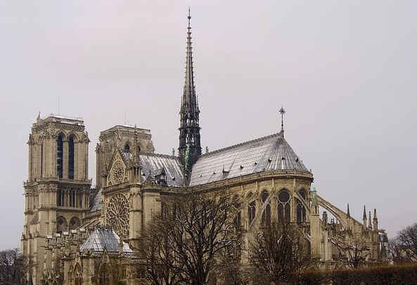 Flying Buttresses of Notre Dame