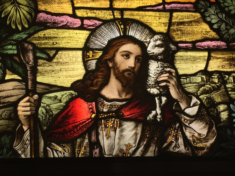 Jesus the Good Shepherd   Stained Glass