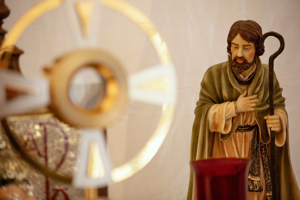 Saint Joseph and the Monstrance