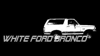EventPost -  White Ford Bronco