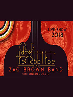 ZAC BROWN BAND: DOWN THE RABBIT HOLE LIVE! WITH SPECIAL GUEST ONEREPUBLIC    MUSIC - WASHINGTON DC Price: $43 - $127