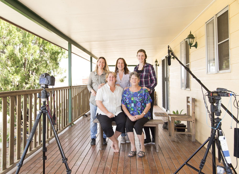 Filming the Jervoise crowdfunding video with Kerry and Kristine Jonsson, Honey, Karen and Jess.
