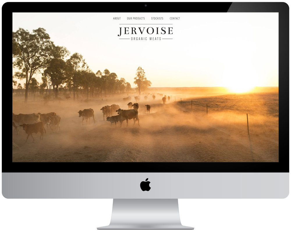 The Jervoise website, designed by our talented friends Teegan and Stephen of Verve Design - also completed through a trade/exchange arrangement!