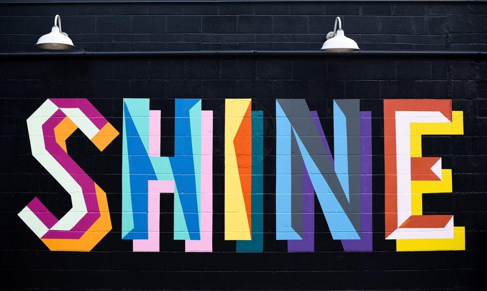 Shine Mural -Up Yoga Studio, Minneapolis MN