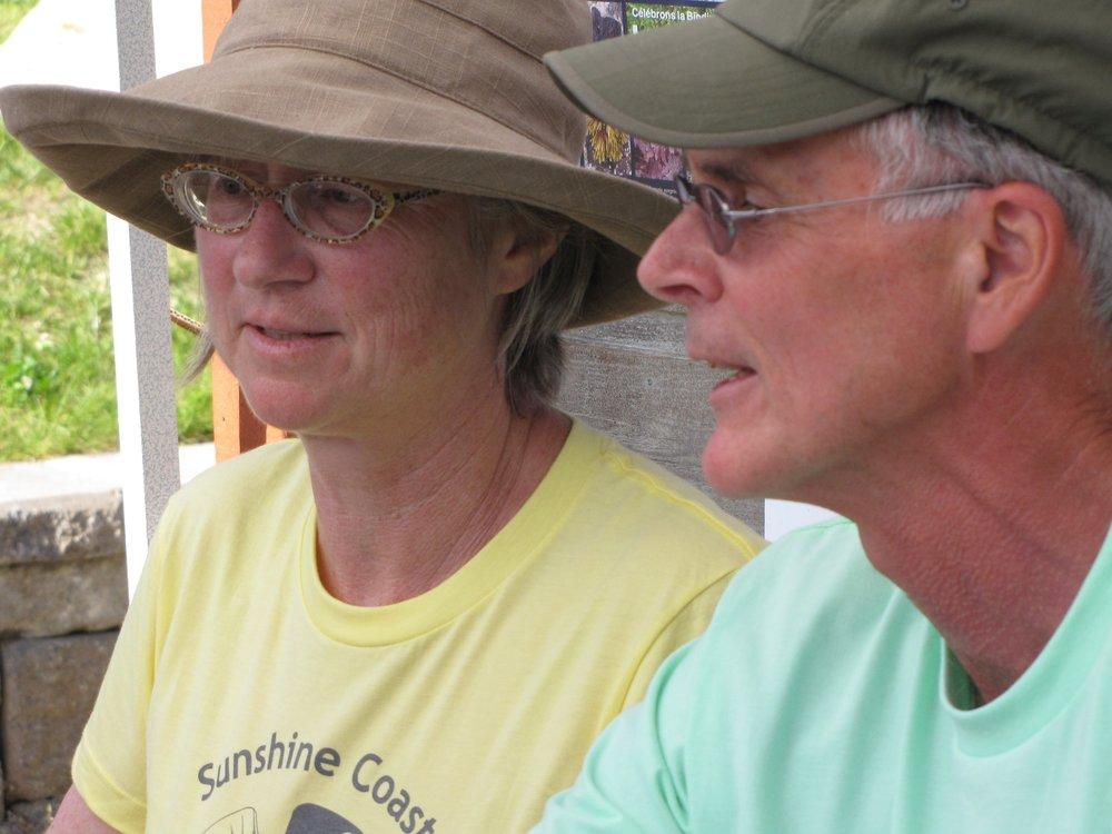 20090523 - May 23rd - BioBlitz Madeira Park - Debra Huffaker and Ted Bentley.jpg