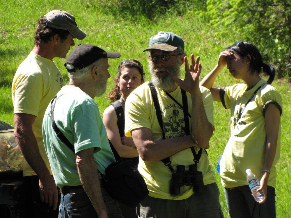 20090523 - May 23rd - BioBlitz Madeira Park - David Stiles, Rick O'Neil, John Dafoe and Students.jpg