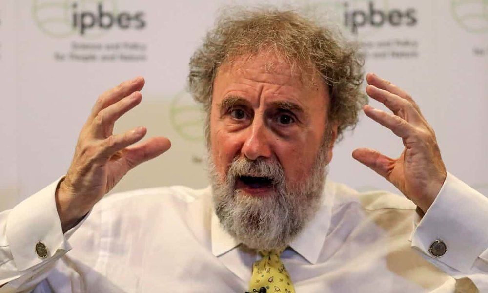 "Protecting biodiversity is ""as important as fighting climate change,' said Robert Watson, chair of IPBES speaking in Medellin, Colombia on 22 March Photograph: Joaquin Sarmiento/AFP/Getty Images"
