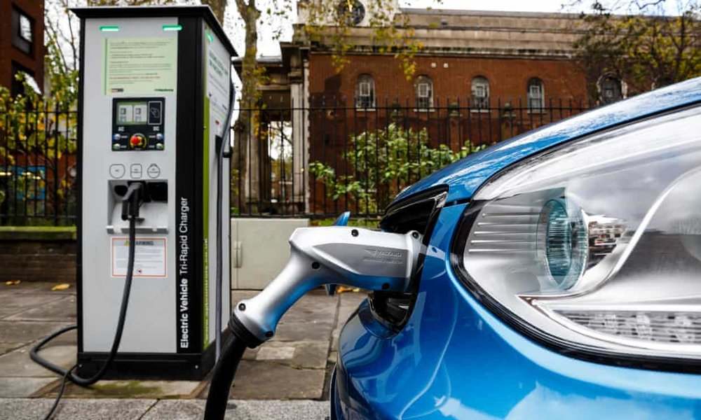 Between January and June around 195,000 plug-in cars were sold across the EU, Iceland, Liechtenstein, Norway and Switzerland. Photograph: Miles Willis/Getty Images for Go Ultra Low