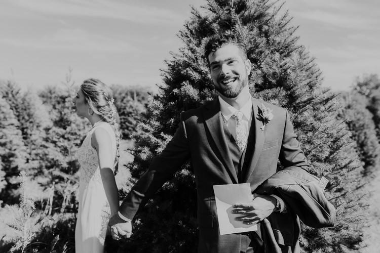 Cassidy & Isaac - Married - Nathaniel Jensen Photography - Omaha Nebraska Wedding Photograper - Nordstroms Christmas Tree Farm-4.jpg