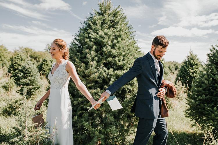Cassidy & Isaac - Married - Nathaniel Jensen Photography - Omaha Nebraska Wedding Photograper - Nordstroms Christmas Tree Farm-6.jpg