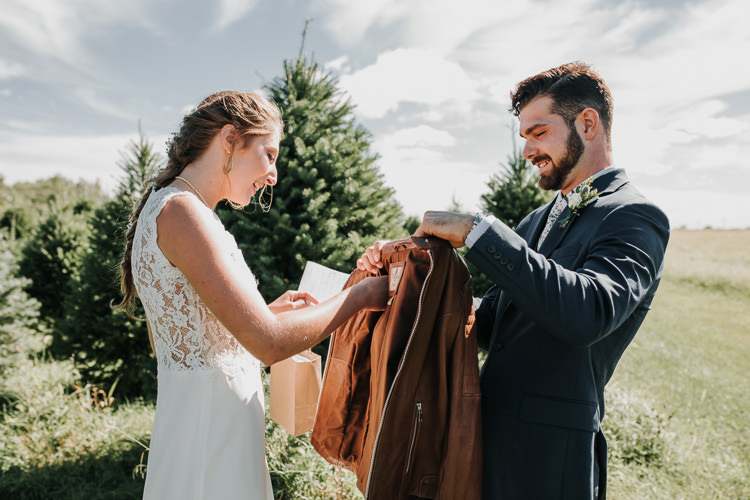 Cassidy & Isaac - Married - Nathaniel Jensen Photography - Omaha Nebraska Wedding Photograper - Nordstroms Christmas Tree Farm-15.jpg