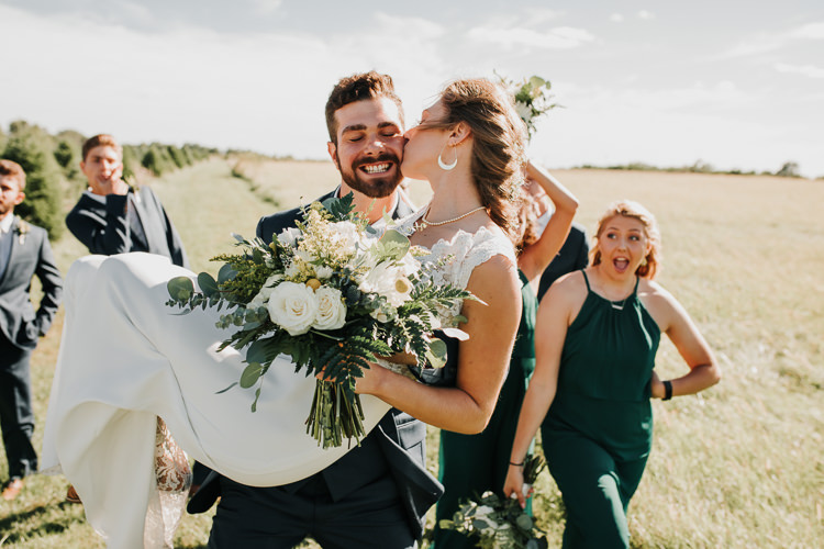 Cassidy & Isaac - Married - Nathaniel Jensen Photography - Omaha Nebraska Wedding Photograper - Nordstroms Christmas Tree Farm-141.jpg